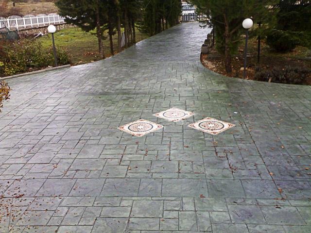Calcestruzzo Stampato Per Esterni : Pavimenti esterni piastrelle i masselli e il calcestruzzo stampato