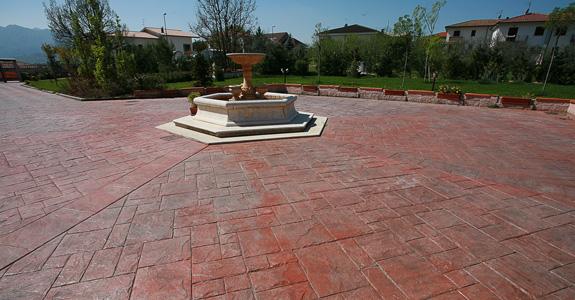 Pavimento Calcestruzzo Stampato : Pavimenti in cemento stampato pavimenti per esterni